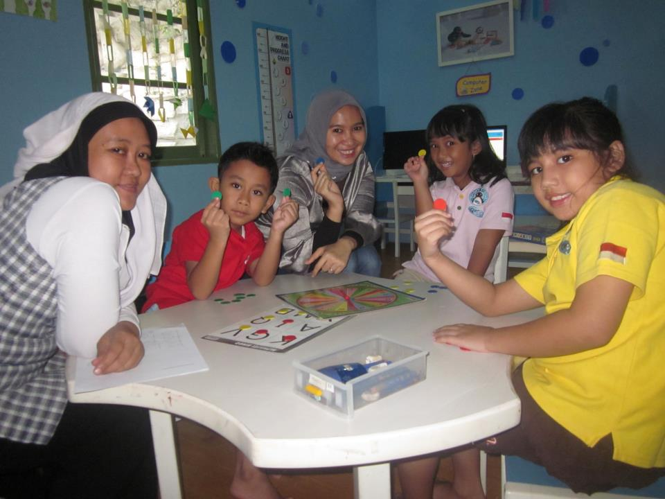 We were playing Bingo games while learning about English Phonics, Alphabets, enriching our vocabularies :)